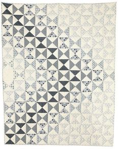 Dimensions by Amy Ellis  --  So simple and so pretty!  Can see this in blue & white or red & white too