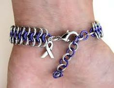Cute bracelet to show support for domestic violence awareness!