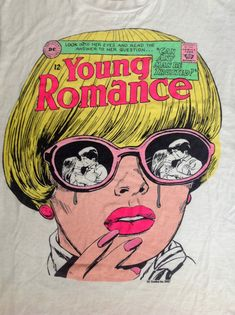 1980s Young Romance Comic Book Tshirt   StrangeNormalities