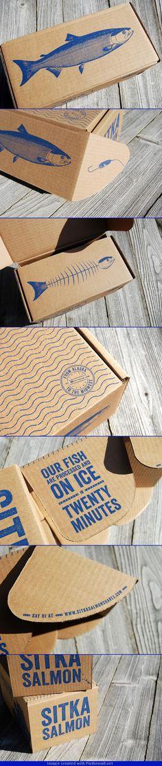 Sitka Salmon Share Box — The Dieline - Branding & Packaging Design. Kraft Packaging, Cool Packaging, Paper Packaging, Design Packaging, Coffee Packaging, Bottle Packaging, Label Design, Box Design, Graphic Design