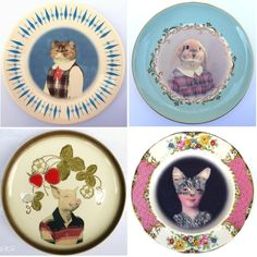 Altered Antique plates These are all so wonderful I can't sop pinning them up!!