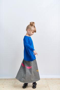 Two Dots, Gray Skirt, Green Colors, Branding Design, Organic Cotton, Summer Dresses, Grey, Skirts, Blue