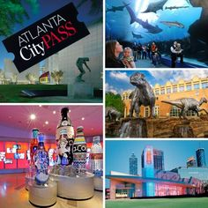 Atlanta City Pass Discounts:  The Atlanta CityPASS covers you admission to The Georgia Aquarium, the World of Coca-Cola, the Inside CNN Studio Tour, and more Now you can get the city pass for $73.25(regularly $129.23) that's 43% off. For more information and to get the discount visit our website or use the link below:  http://www.livelifehalfprice.com/activity-discounts/atlanta-city-pass-discounts/