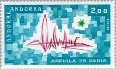 Sello: Symbolism (Andorra (Administración Francesa)) (International Stamp Exhibition ARPHILA '75, Paris) Yt:AD-FR 248,Mi:AD-FR 269