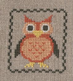 Garden Grumbles and Cross Stitch Fumbles: Fall Owl
