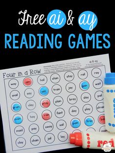 Download this set of three no prep games for reading ai and ay words!