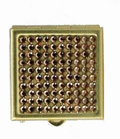 JCBling - Jimmy Crystal Pill Box with Swarovski Crystals on Gold Metal Case. Style