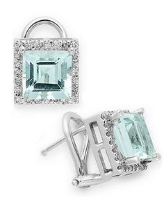aquamarine, my birthstone-love the square shape