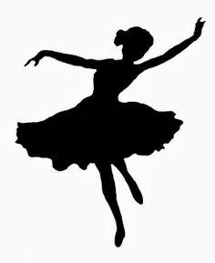 Siluetas de Balletistas y Bailarinas.