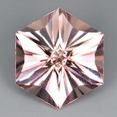 Morganite star cut