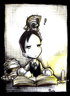 El joven Lovecraft by ~Pyromaniac on deviantART