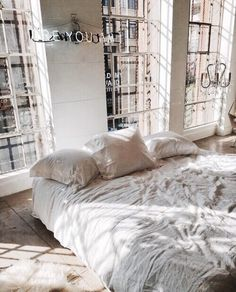 bedroom, home, and bed image Dream Bedroom, Home Bedroom, Bedroom Decor, Bedrooms, Master Bedroom, Home Interior, Interior And Exterior, Interior Design, Bohemian Living