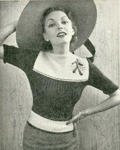 Jack-Tar (Sailor) Jumper  Stitchcraft June 1951