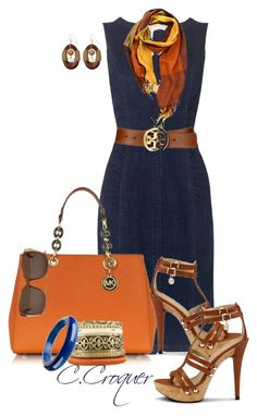 Basic denim dress paired with bright DYT Type 3 accessories make a pretty fantastic outfit. Casual Outfits, Summer Outfits, Cute Outfits, Fashion Outfits, Womens Fashion, Summer Wear, Mode Style, Style Me, Classic Style