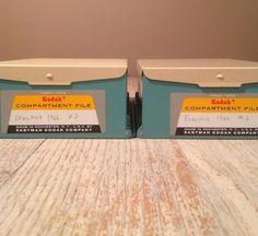 Vintage Eastman Kodak Slide File Storage Boxes  by PackandAlleys, $19.00