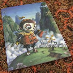 Notebook Robot Valentin in the Mountains - MiaDeRoca - I am starting my garden diary today (planting the first chili seeds) Shops, Bergen, Planting, Balcony, Home Accessories, Chili, Interior Decorating, Notebook, Mountains