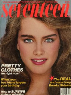 Had to have my Seventeen mag....Thank heaven's I grew up in same time line as Brook Shield's Eye Brows!!! hahaah