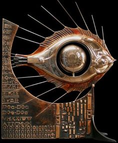 Today we want to make a present to steampunk lovers. This post will show quite complicated but stunning sculptures in steampunk style created by French artist Pierre Matter. Easy Clay Sculptures, Fish Sculpture, Animal Sculptures, Copper Wall Art, Metal Art, Steampunk Kunst, Steampunk Design, Art Brut, Art Textile