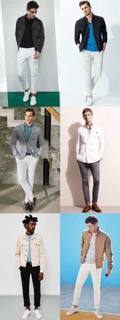 men's white jackets or trousers fashion outfit inspiration lookbook for summer