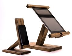 iPad Stand/ Ipad Mini Stand / Wood Ipad Stand/ Ipad Station II by WoodWarmth on Etsy https://www.etsy.com/listing/181369019/ipad-stand-ipad-mini-stand-wood-ipad