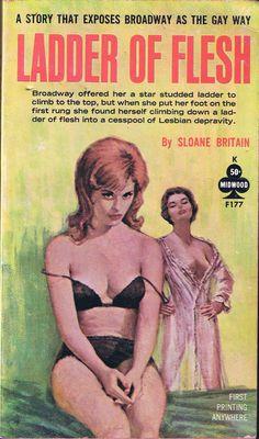 """The cover artwork for the lesbian-themed novel """"Ladder of Flesh"""" (1962)"""