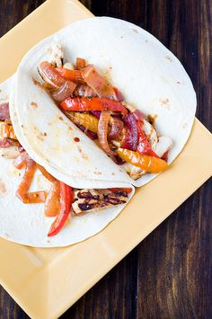 Chipotle Lime Chicken Fajitas