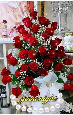 Romantic Good Night Image, Lovely Good Night, Good Night Flowers, Good Night Sweet Dreams, Wonderful Flowers, Good Morning Good Night, Good Night Greetings, Good Night Wishes, Good Night Quotes