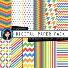 Rainbow Candy digital paper Candy backgrounds in by GraphicsJunkie, $4.80