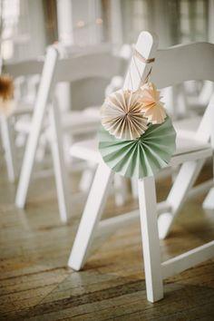 DIY aisle decor: http://www.stylemepretty.com/new-york-weddings/new-york-city/queens/long-island-city/2015/06/24/glamorous-vintage-summer-wedding/   Photography: Sidney Morgan - http://www.sidneymorganblog.com/