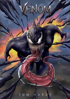 i will make venom in dramatic scene with perspective proportion attack, scream but fun with color like comic book, eye catching Marvel Comics Art, Marvel Heroes, Marvel Movies, Symbiotes Marvel, Venom Art, Comic Villains, Marvel Venom, Batman Vs Superman, Fantasy Landscape