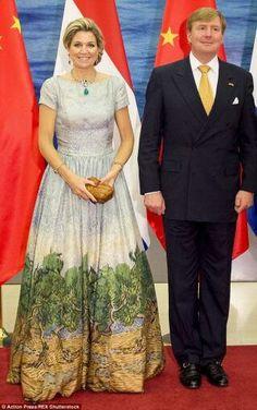Queen Maxima & King Willem-Alexander Visit China, I Believe.