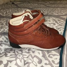 87454d1baba Reebok Classic Sneakers Cognac brown leather classic freestyle high top  reebok sneakers Reebok Shoes Sneakers Reebok