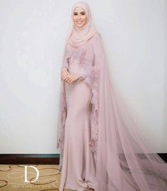 dressvip Round Neck Mother of Bride Dress with Ivory Long Sleeves Jacket Muslimah Wedding Dress, Muslim Wedding Dresses, Wedding Hijab, Pink Wedding Dresses, Muslim Dress, Bridal Hijab, Bridal Dresses, Wedding Gowns, Muslim Brides