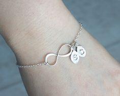 Infinity bracelet Initial bracelet Personalized by DelicacyJ, $31.00