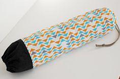 Fabric Plastic Bag Holder / Grocery Bag Holder / Orange by SUZUYA, $12.00