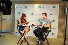 Mark Wahlberg sharing a Wahlburger with Entertainment Tonight Canada.