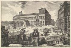 Giovanni Battista Piranesi | View of the Piazza di monte Cavallo, from Vedute di Roma (Roman Views) | The Met
