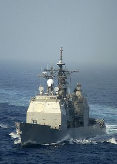 The guided missile cruiser USS Gettysburg (CG 64)