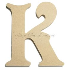 unfinished wooden letter uppercase k victorian font