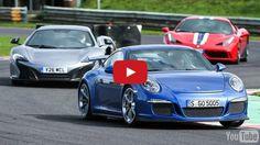 Porsche 911 GT3 vs Ferrari 458 Speciale vs McLaren 650S 2014