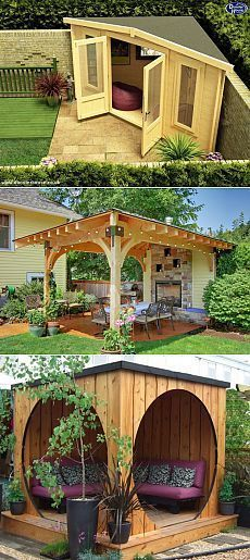 If you have a house, you have a yard. And if you have a yard, then you have a gazebo. There is no gazebo? And where do you spend your Outdoor Seating, Outdoor Spaces, Outdoor Living, Garden Seating, Backyard Seating, Backyard Gazebo, Backyard Landscaping, Landscaping Ideas, Gazebo Canopy