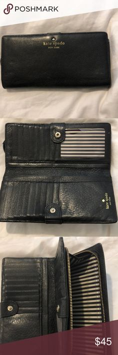 large kate spade wallet Black large wallet little damage kate spade Bags Wallets