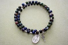How to Make a Coil Memory Wire Wrap Rosary Bracelet