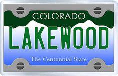 $3.29 - Acrylic Fridge Magnet: United States. License Plate of Lakewood Colorado