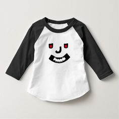 a abstract scary smile face on a t-shirt with red eyes. You can customize this t-shirt to give it you own unique look, you can change the text font and color, t-shirt type and add more text or change text Types Of T Shirts, Unique Faces, Abstract Faces, Consumer Products, Red Eyes, Smile Face, Funny Faces, Funny Tshirts, Scary