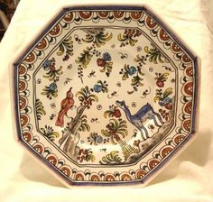traditional portuguese pottery - I have a plate with a similar design - so sweet