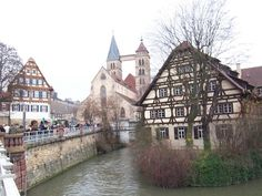 Esslingen Germany...when I went the house on the water was abandoned, so wanted to win the lottery, buy it, and live there!