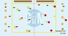 Kegelschuiven - Leuk spel voor eenderde van de zaal! Gymspiratie