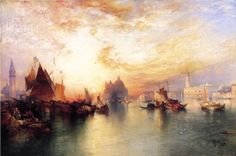 thomas moran paintings | Thomas Moran Paintings - Thomas Moran Venice, from near San Giorgio ...
