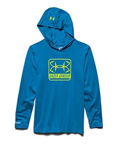 Camp Clothing - Under Armour Big Boys UA IsoChill Element Hoodie Youth Medium Pool ** Visit the image link more details.